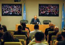 Salaheddine Mezouar donne une conférence de presse à New York sur les préparatifs de la COP22