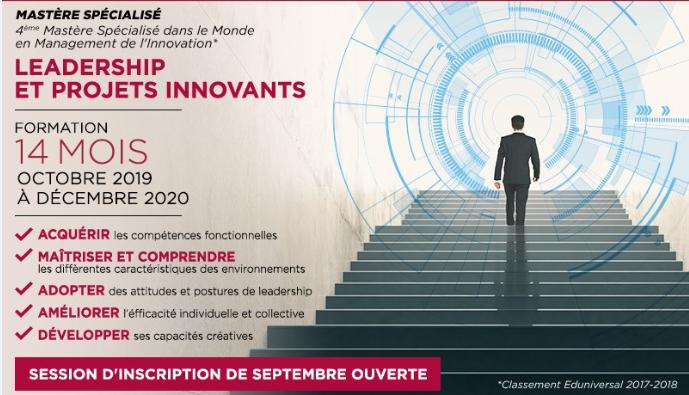 Exécutive Mastère Leadership et projets innovants Centrale Supélec