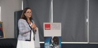 Saloua Karkri Belkeziz. Présidente APEBI