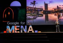 Lino Cattaruzzi, Managing Director, MENA at Google for MENA event giving opening remarks