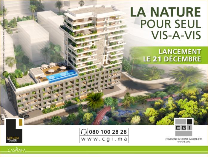 La CGI lance la commercialisation de son nouveau projet Luxuria Tower à Casa-Anfa